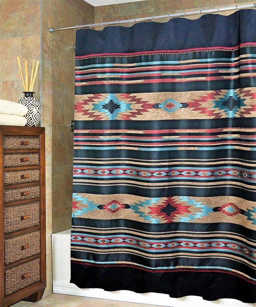 Native American Shower Curtain Southwestern Bathroom Decor Southwestern Shower Curtains Southwest Shower