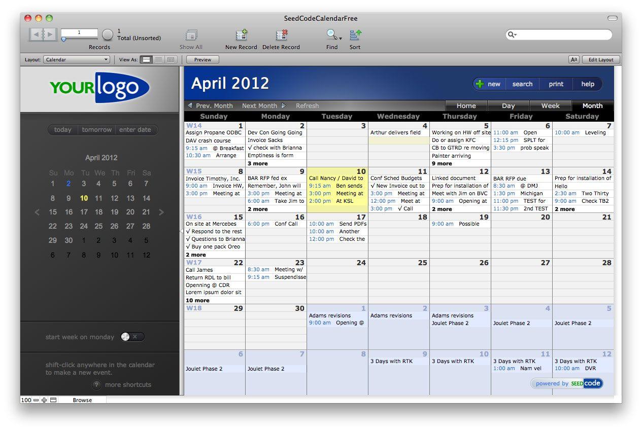 Calendar filemaker ideas pinterest software and business calendar cheaphphosting Images