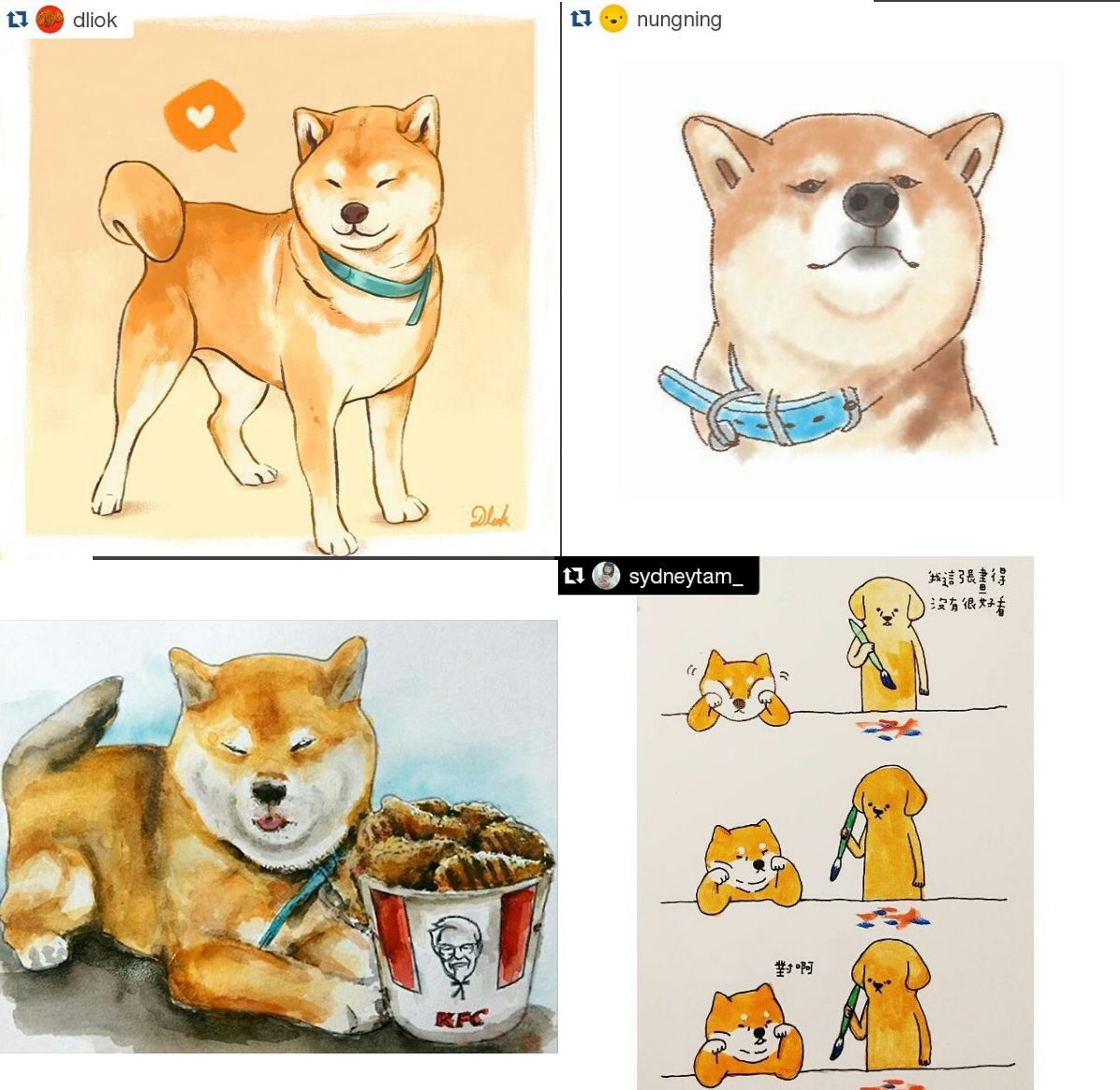 Ryuji Ryuji513 Instagram Photos And Videos Cartoon Animals Cute Drawings Shiba Inu
