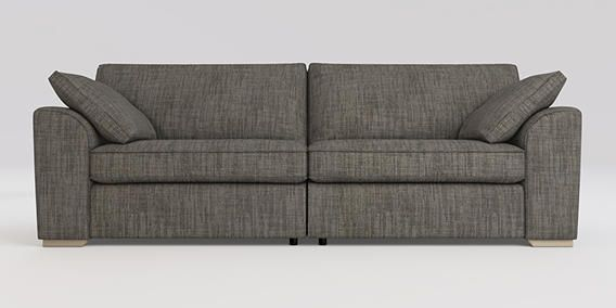 Buy Stamford Extra Large Sofa 4 Seats Belgian Soft Twill Stripe