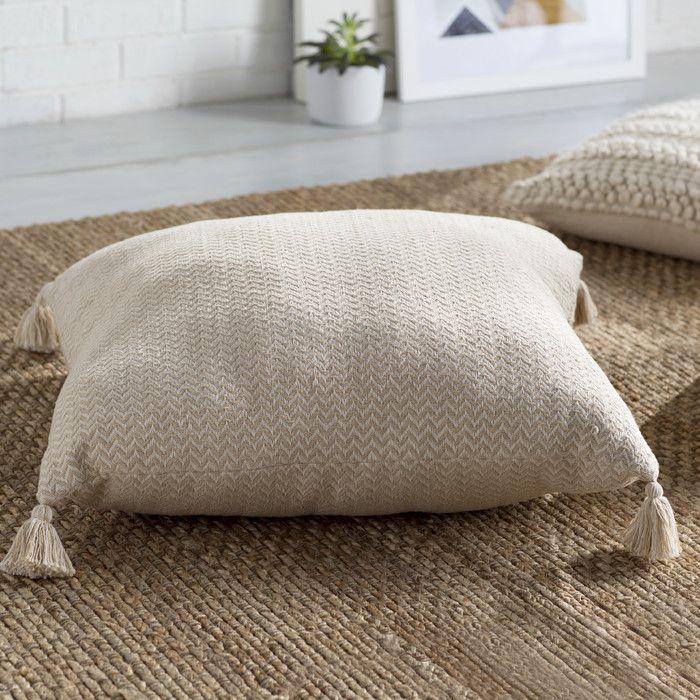 Mora Chevron Cotton Floor Pillow Reviews Joss Main Floor Pillows Pillows Throw Pillows