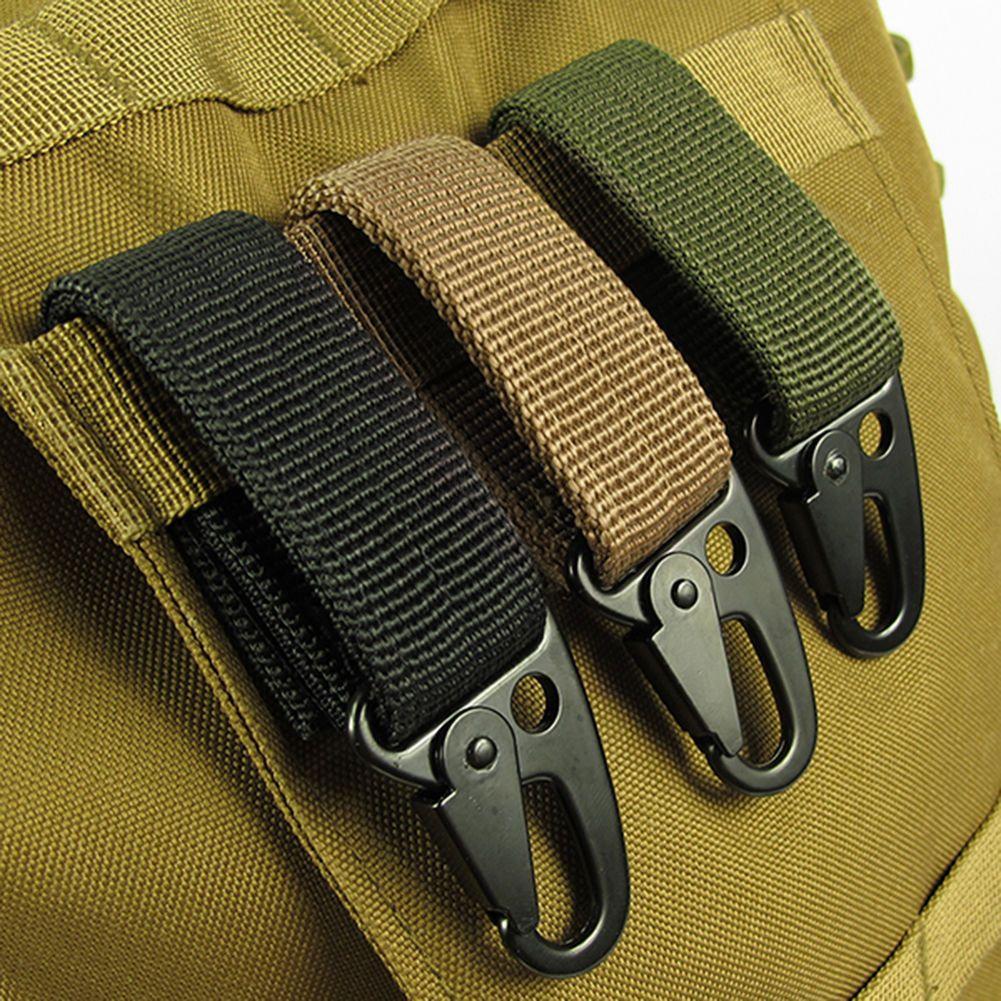 Nylon Webbing Strap Buckle Key Hook Carabiner Hanging Belt Clip Outdoor Backpack