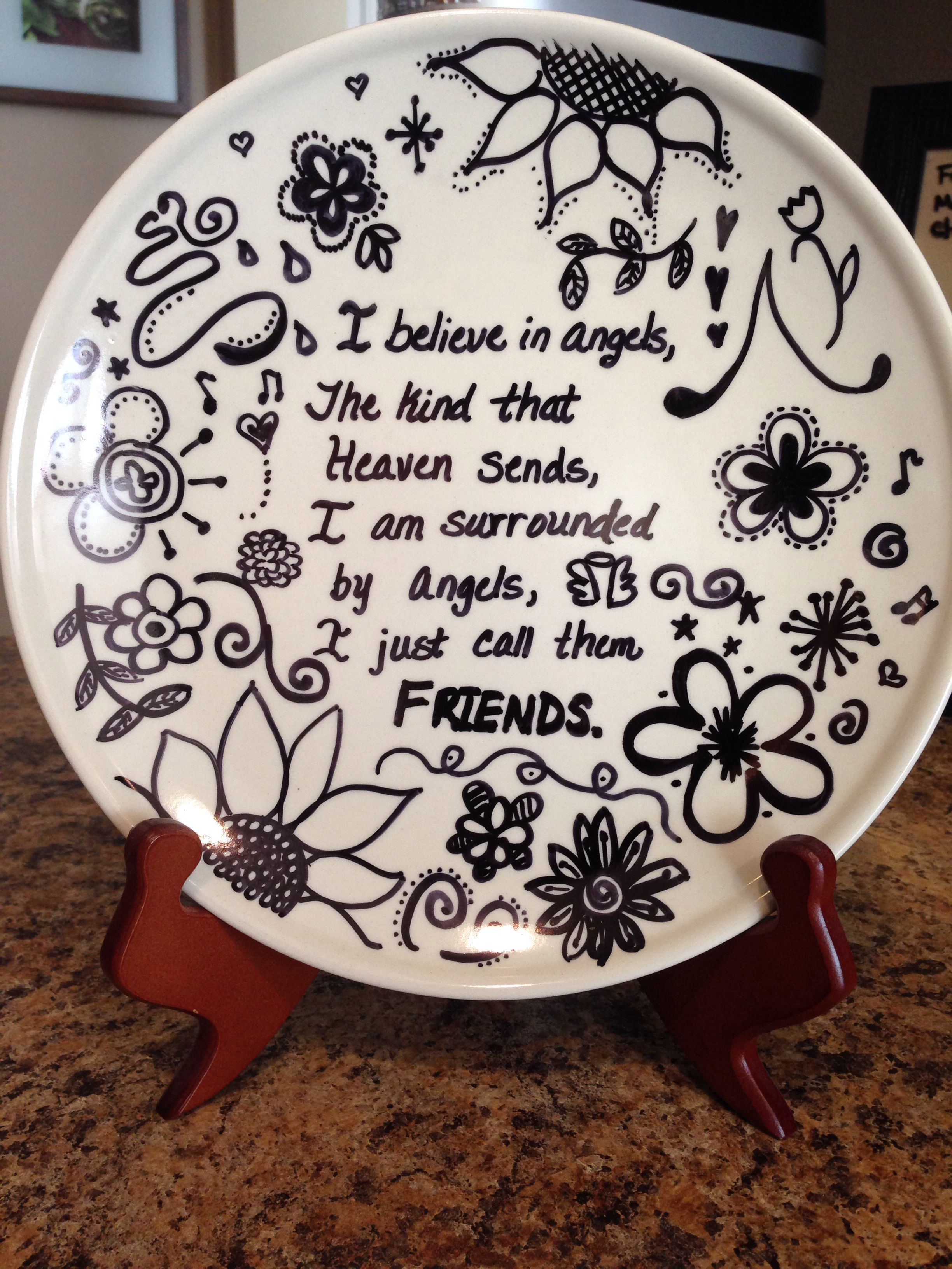 I made this ) sharpie on plate then bake - Crafts All Over & I made this :) sharpie on plate then bake - Crafts All Over ...