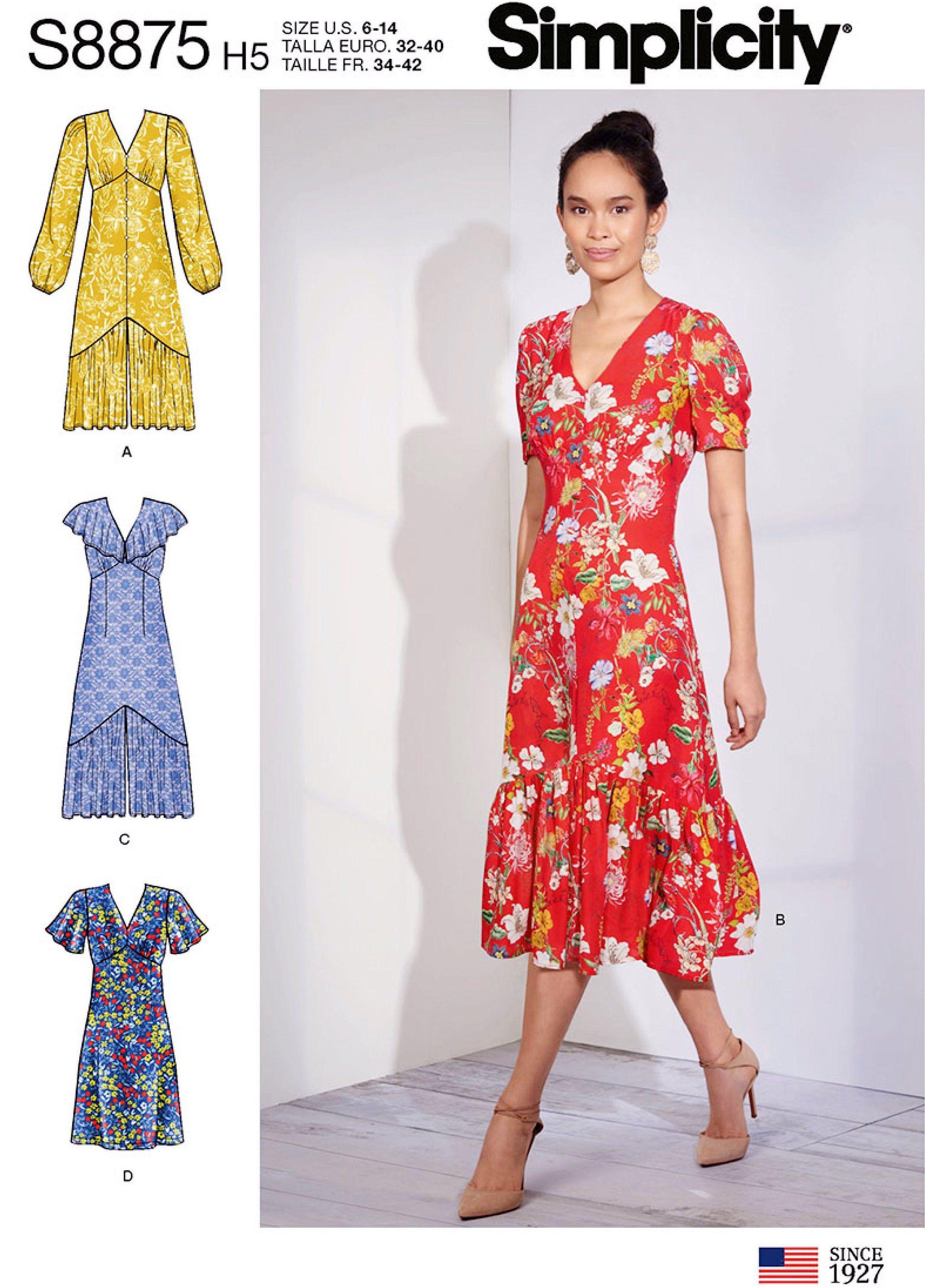 e463d6cb9e31 Sewing Pattern Women s Dress Pattern