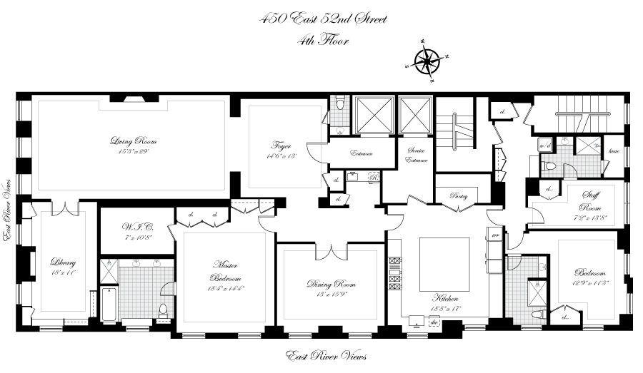 Luxe Greta Garbo Adjacent Midtown East Pad Seeks 6 25m Curbed Ny Mansion Floor Plan Apartment Floor Plans Floor Plans