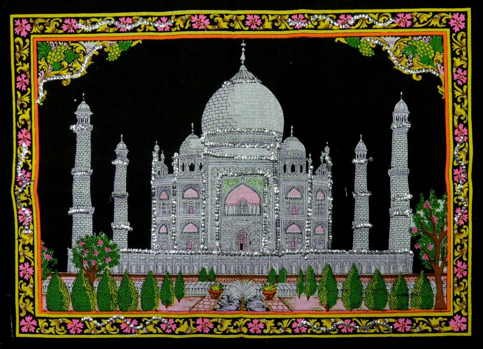 * Indian Taj Mahal Sequinned Wall Hanging * Fair Trade * Small | eBay