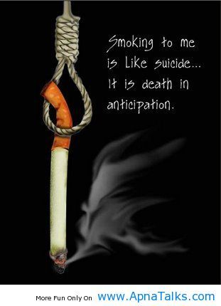 Anti Smoking Quotes It Is Death Smoking Quotes  Random  Pinterest  Heart Breaks
