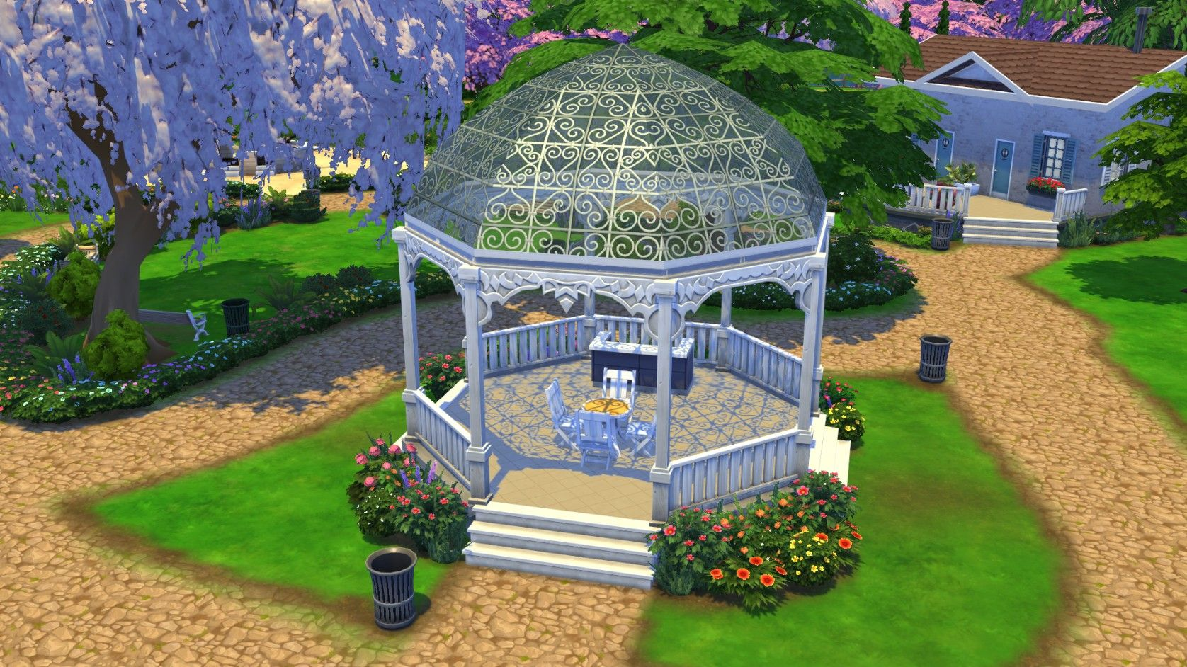 Pin By Jennifer Bocox On Just Yes Sims House Sims Building Sims 4 Garden Ideas