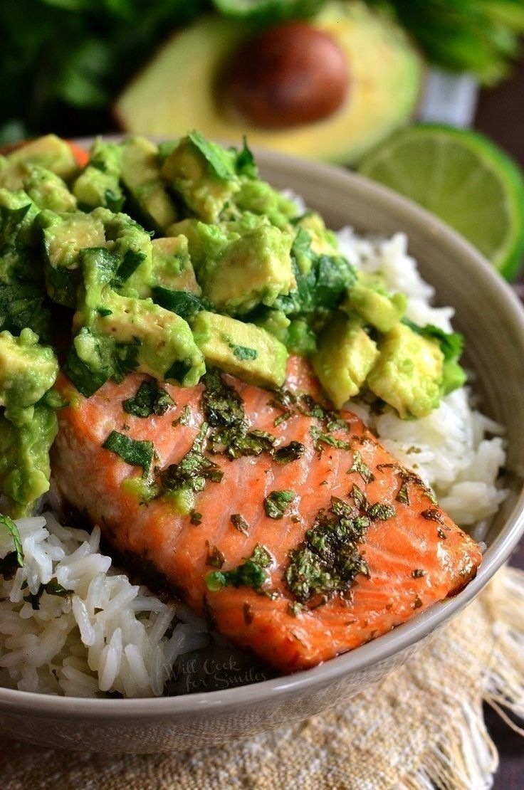 salmon rice bowls! - avocado salmon rice bowls - Anderst and ... - Jule H. -  Avocado salmon rice b