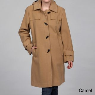 09114c89e Overstock.com - Stephanie Mathews Women's Wool-blend Toggle Coat ...