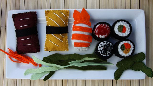 Felt Sushi by taoofcraft, via Flickr