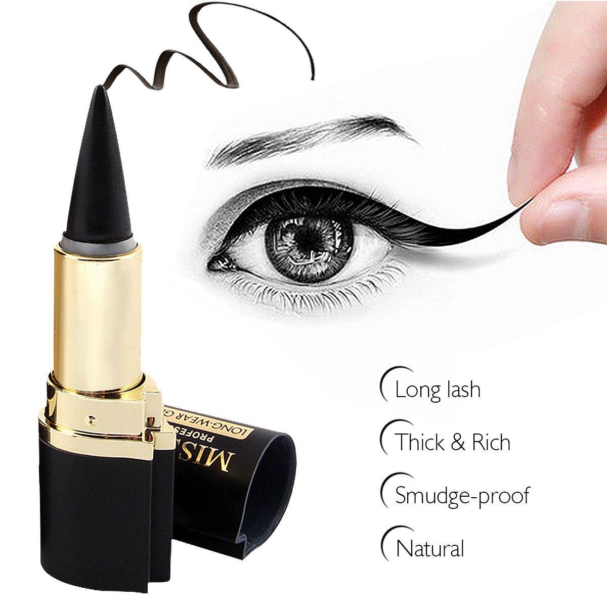 MISS ROSE 1Pc Black Waterproof Eyeliner Paste Eye Liner
