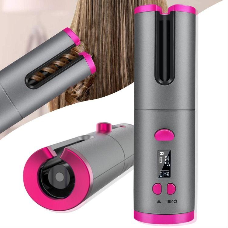 Wireless Auto Rotating Ceramic Hair Curler ماكينة تجعيد الشعر الأوتوماتيكية القابلة لإعادة الشحن Automatic Hair Curler Hair Curlers Curlers