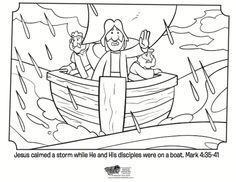 Jesus Calms the Storm - Bible Coloring Pages (With images ...