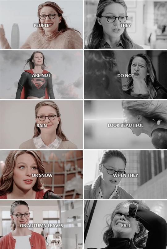 As pessoas não são chuva ou neve ou folhas de outono Eles não parecem lindos quando caem #supergirl