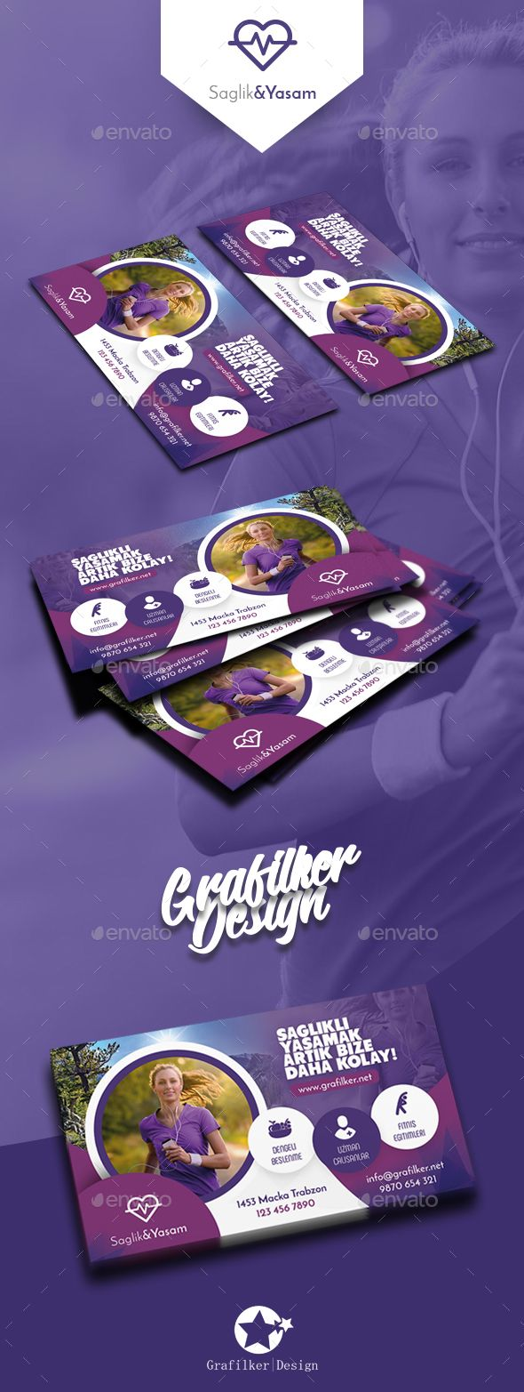Healthy Life Business Card Templates | Tarjetas, Tarjetas de ...