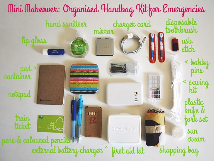 Mini Makeover Organised Handbag Kit For Emergencies Via Style A Hy Home What S In Your