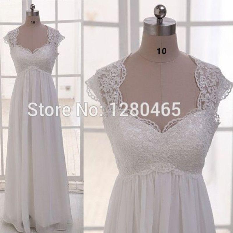 Pas cher image r elle dentelle et mousseline plage de for Robes taille plus pour les mariages pas cher