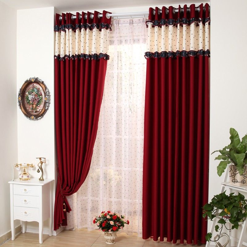 Amazing Cortina Roja · Red And Black CurtainsCurtains ...