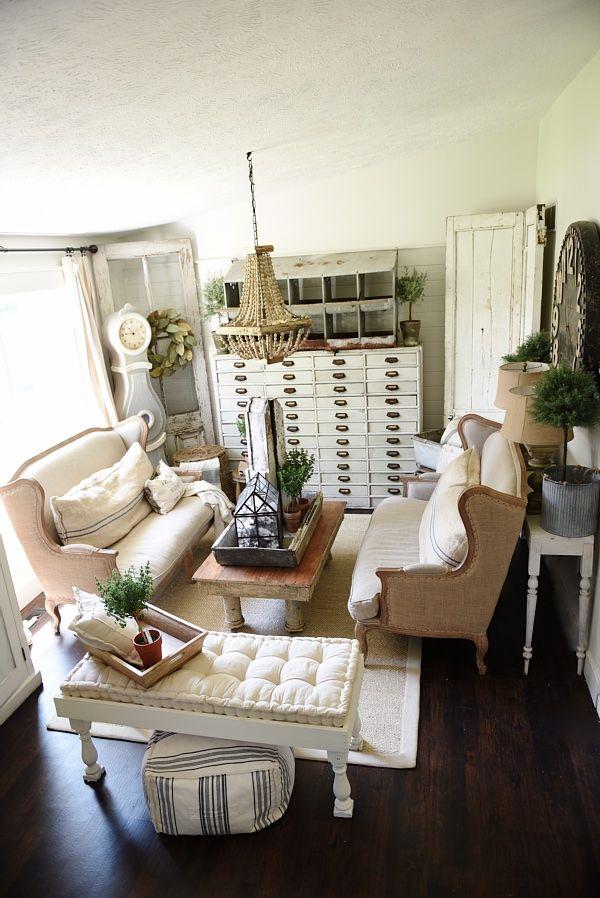 Farmhouse Living Room Makeover Farmhouse Living Room