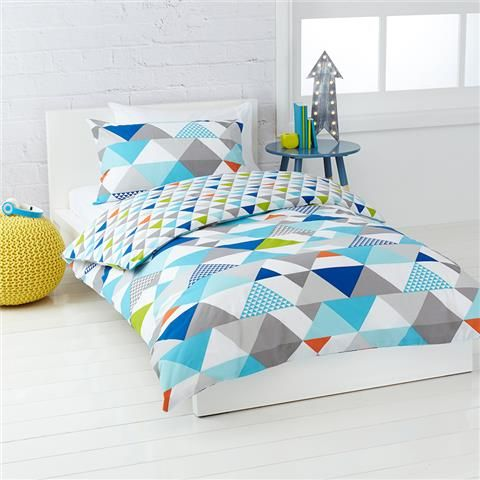 Triangles Quilt Cover Set Double Bed Kmart Quilt Cover Sets Quilt Cover Kids Comforters