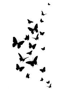 Sj Aerografias Plantillas Mariposas Impresos Pinterest