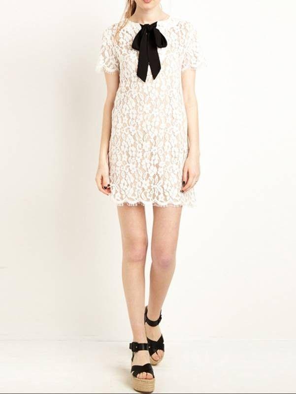 Vestido de Renda Com Laço - Compre Online | DMS Boutique