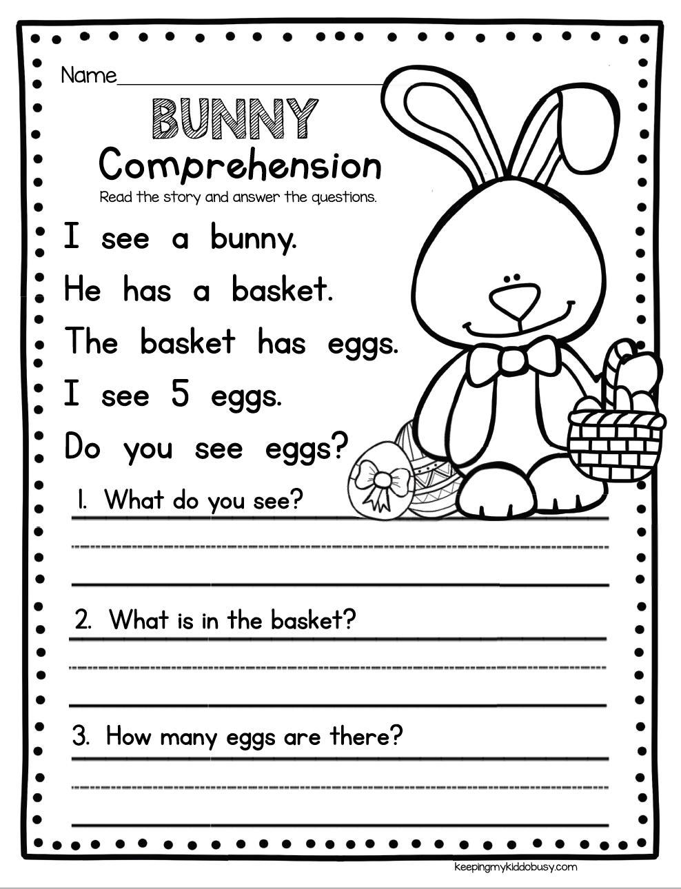 - BUNNY COMPREHENSION - Easy Way To Practice Comprehension