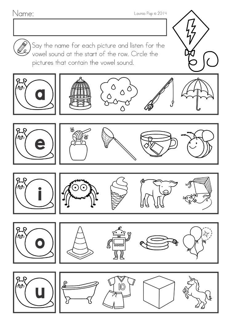 Spring Kindergarten Math and Literacy Worksheets \u0026 Activities Distance  Learning   Vowel worksheets [ 1060 x 750 Pixel ]