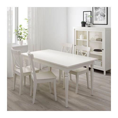 Ingatorp Stol Rozkladany Bialy Sprawdz Szczegoly Produktu Ikea White Kitchen Table Dining Room Small Dining Table