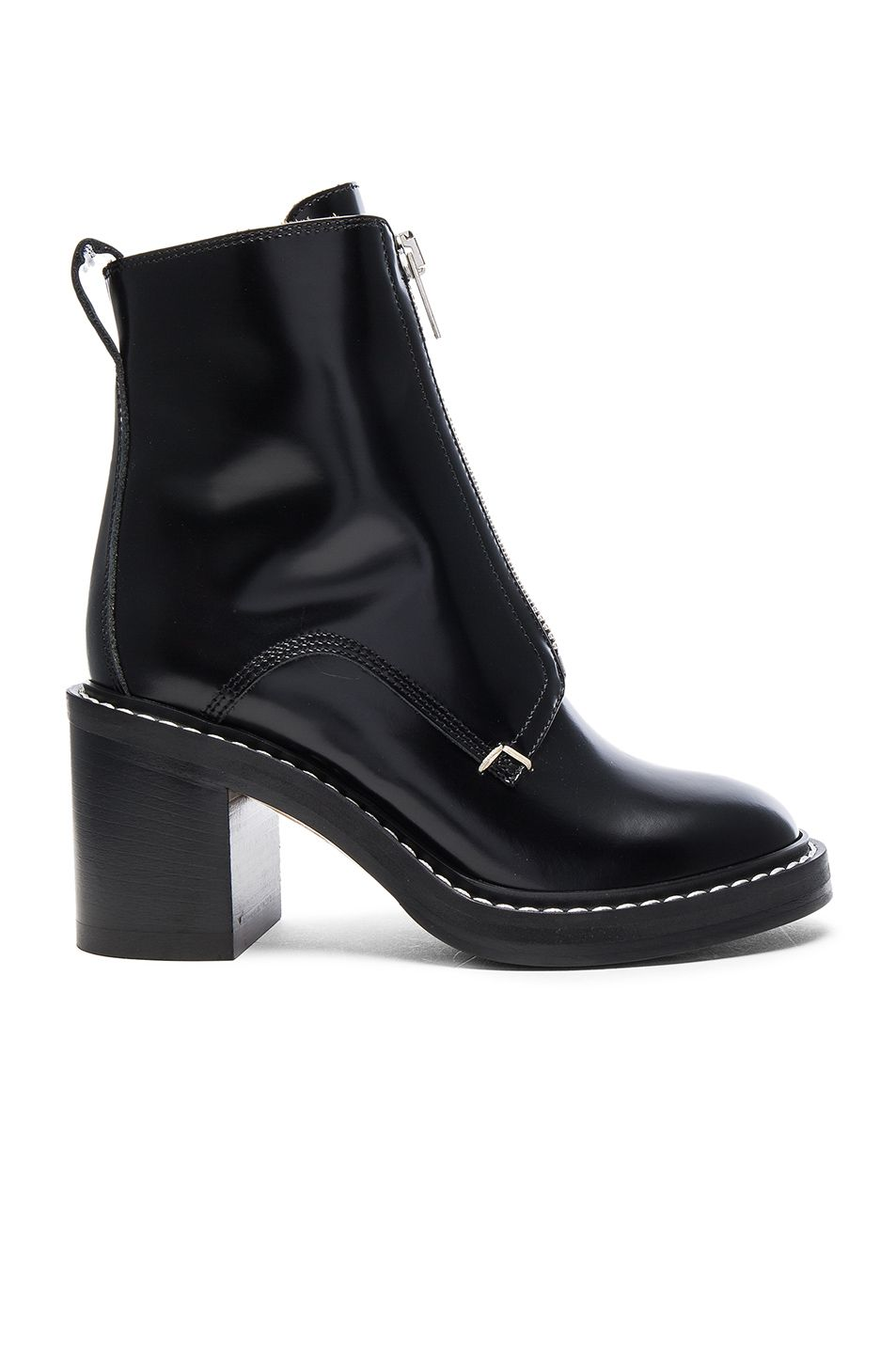 Image 1 of Rag & Bone Leather Shelby Boots in Black