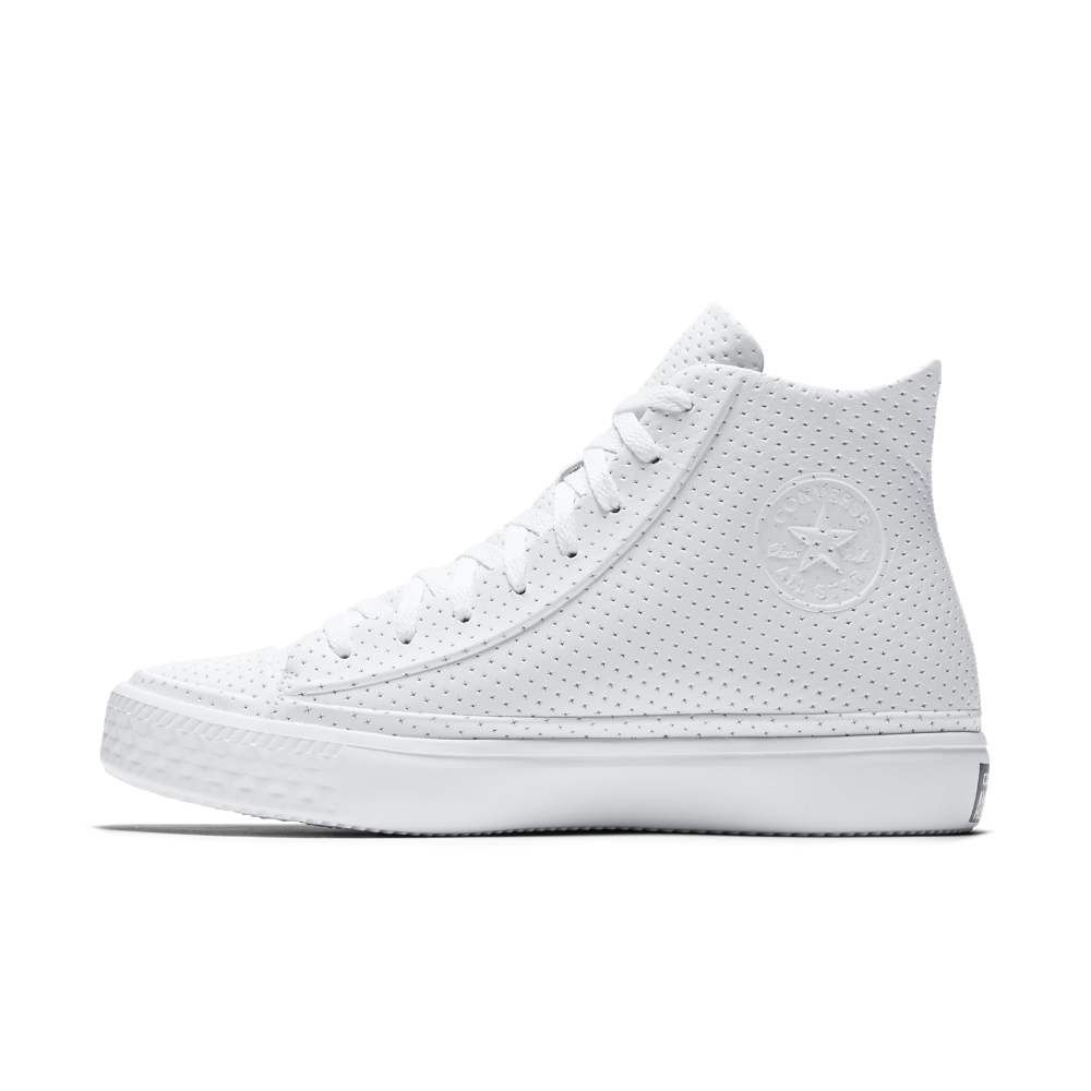 Converse Chuck Taylor All Star Modern Leather High Top Men s Shoe Size 11.5  (White) 581944b56