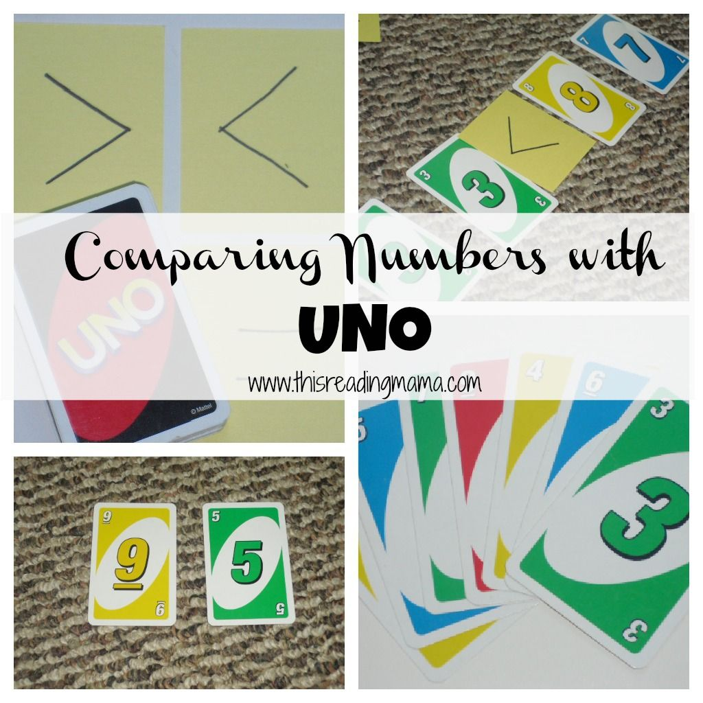 Comparing Numbers With Uno Adapt For Any Place Value