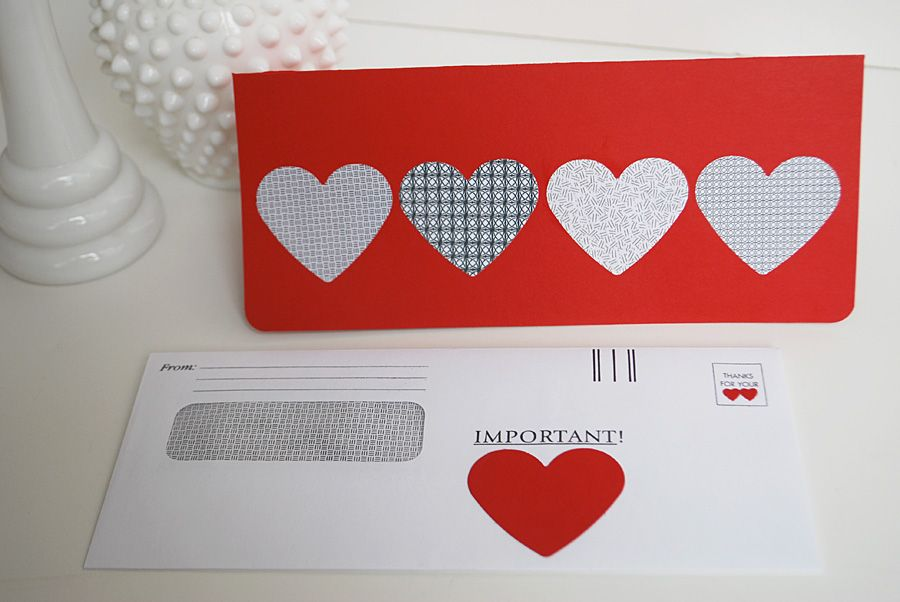 make a valentine card using recycled security envelopes security diy valentines day cards