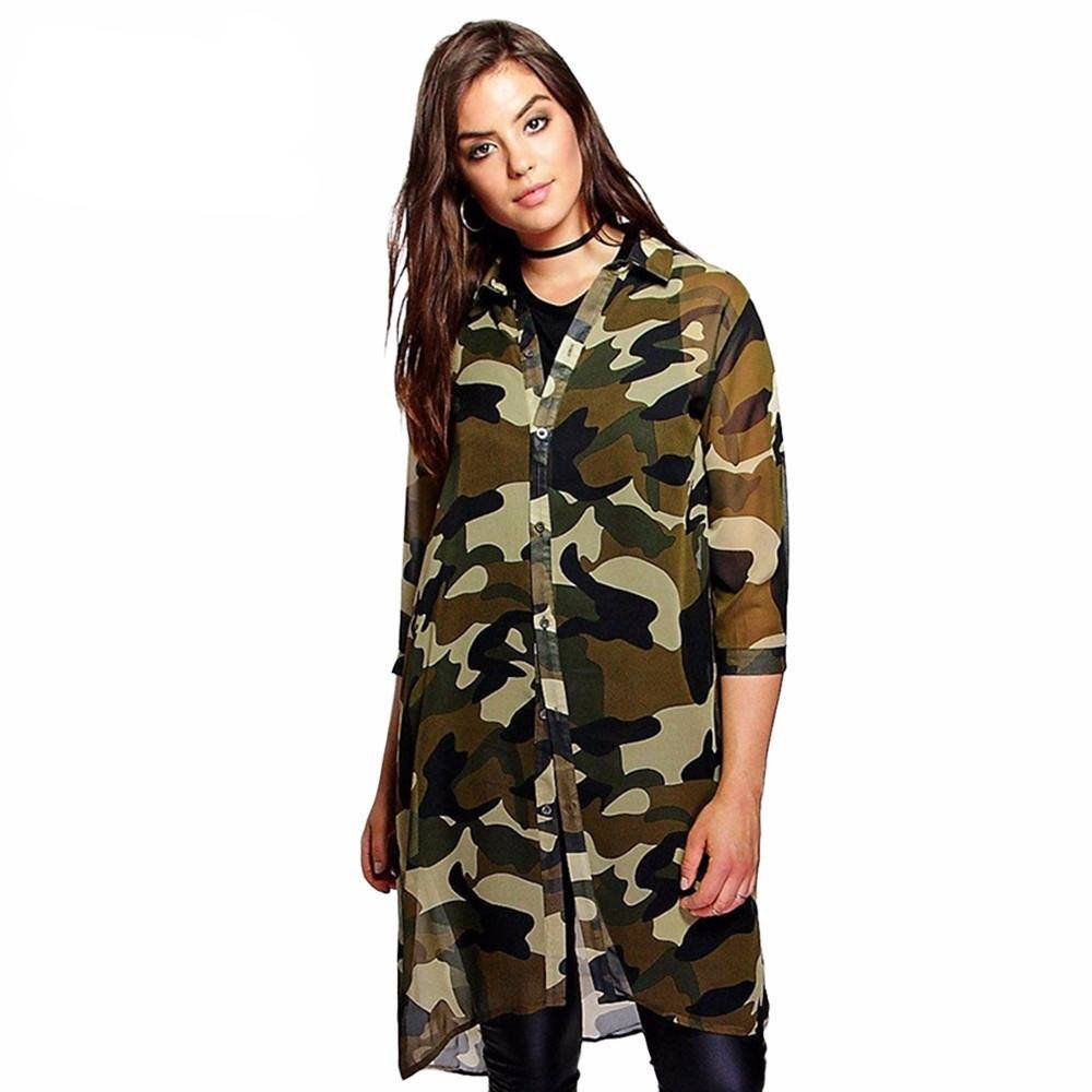 Three Quarter Sleeve Camouflage Dress From Our New Plus Size