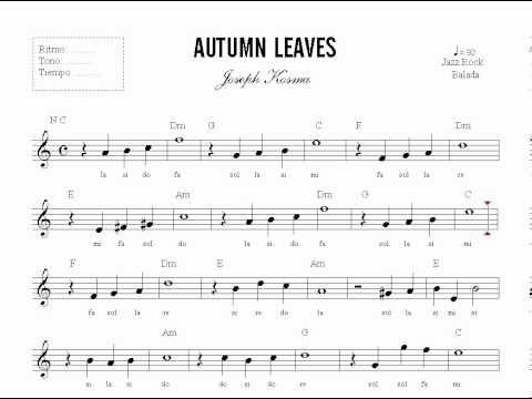 autumn leaves music sheet pdf