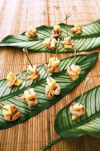 Tropical Canapes St Croix Caribbean Party Wedding Canapes