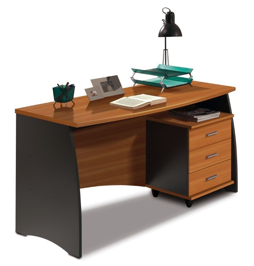 primo computer study desk with 3 drawers office furniture 140cm