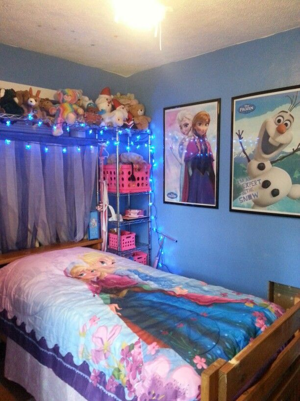 Frozen bedroom room ideas pinterest habitacion para for Habitaciones infantiles disney
