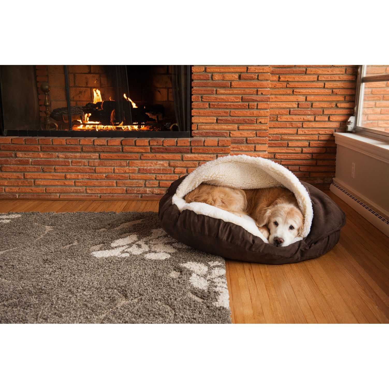 Snoozer Cozy Cave Luxury Microsuede Pet Bed (Anthracite