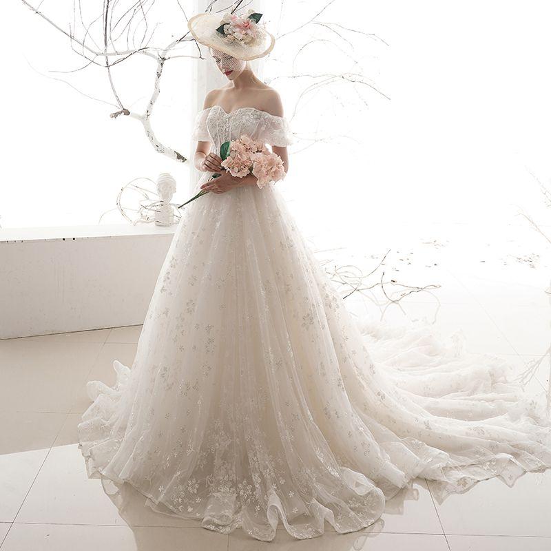 Chic / Beautiful Ivory Wedding Dresses 2019 A-Line