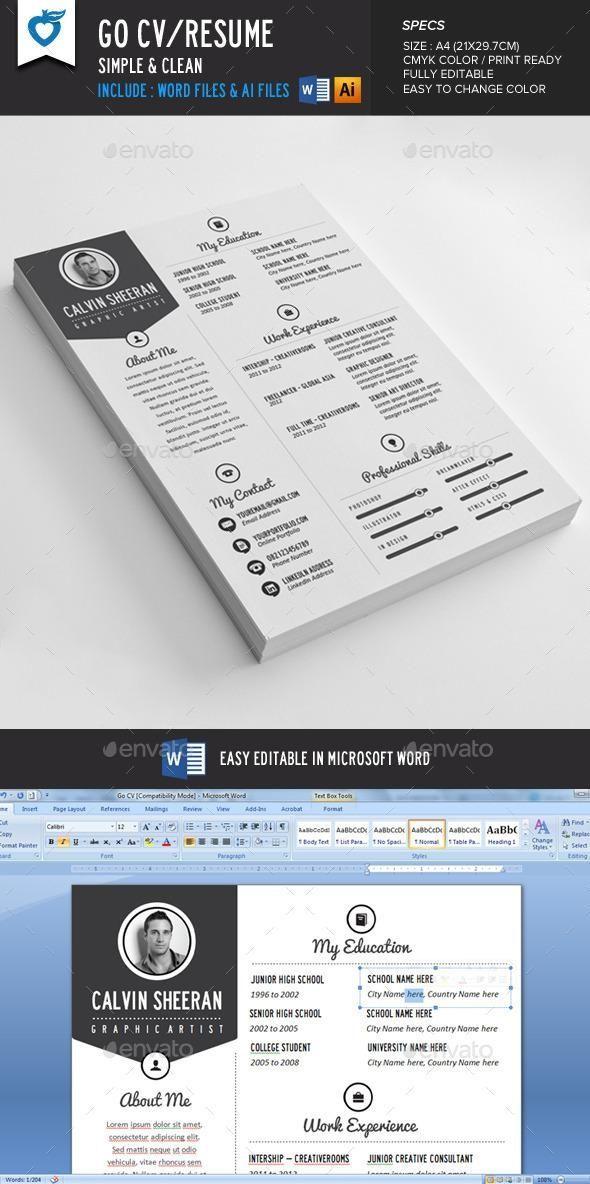 simple resume template resume template download best