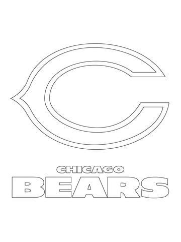 chicago bears logo coloring page from nfl category select from 20946 printable crafts of