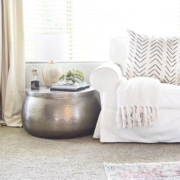 Silver Hammered Metal Cala Coffee Table By World Market Living