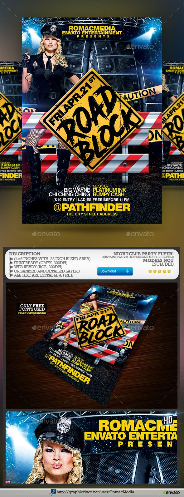 road block party flyer pinterest party flyer flyer template and