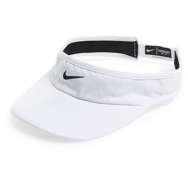 6c594394 Nike 'Feather Light 2.0' Dri-FIT Visor ($22) ❤ liked on Polyvore ...
