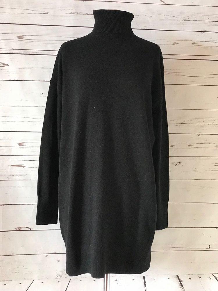 37fe32083c6 NEW EVERLANE Womens Black Cashmere Sweater Size M Turtleneck Tunic NWOT  #Everlane #Tunic