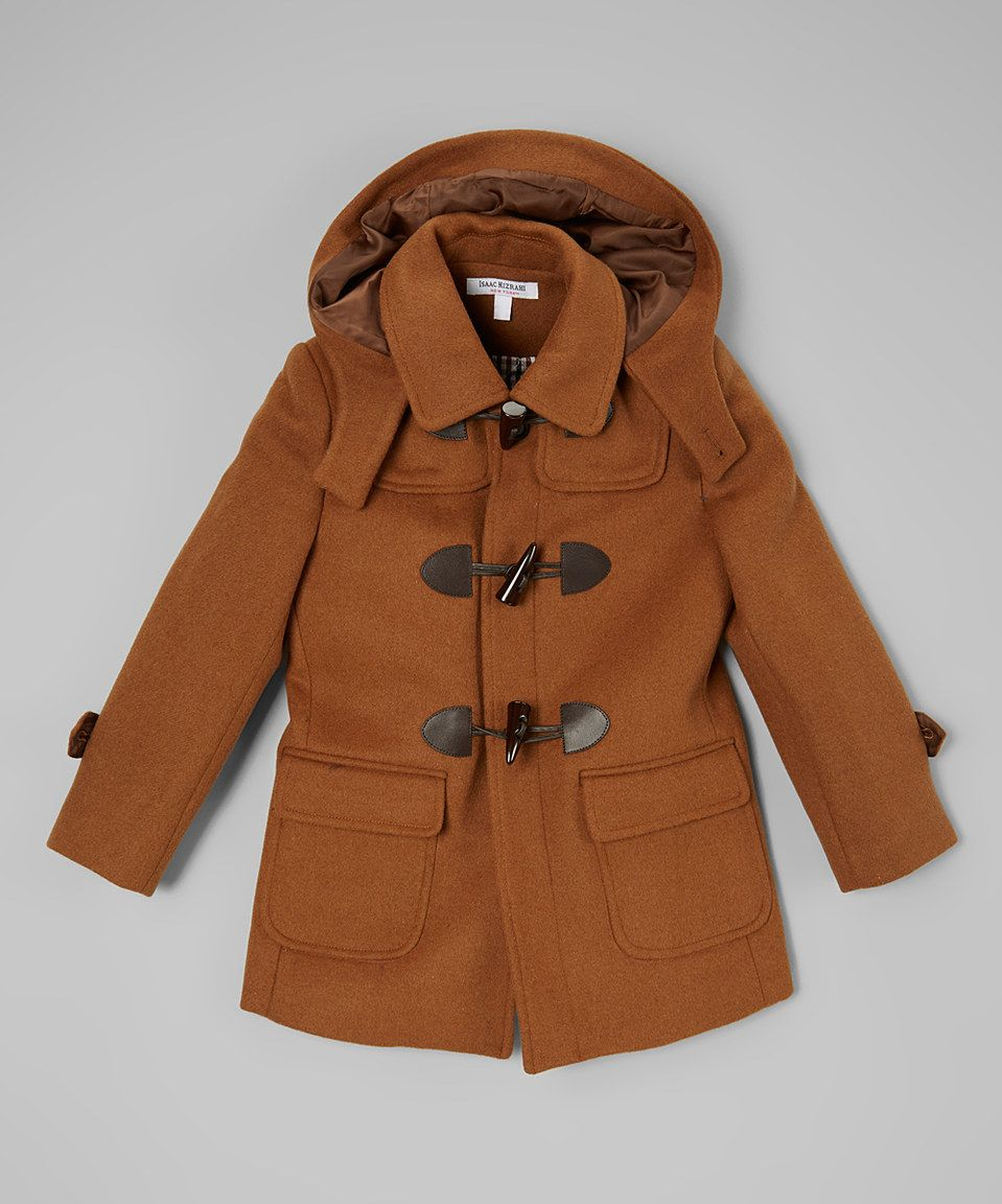 76cffdaa3782 Isaac Mizrahi Tan Wool-Blend Toggle Coat - Toddler   Boys by Isaac ...