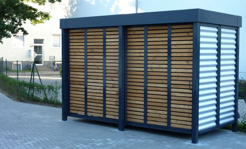 moderne carports modern pinterest fahrradschuppen stahl und drau en. Black Bedroom Furniture Sets. Home Design Ideas