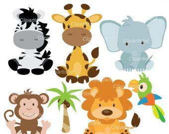 Animal Clip Art Zoo Animal Heads Clipart Digital Clip Art Etsy In 2021 Jungle Animals Animal Clipart Baby Zoo Animals